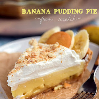 Easy Banana Pudding Pie - From Scratch!