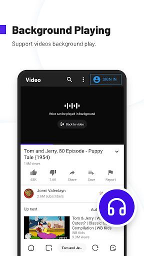 UC Browser Turbo- Fast Download, Secure, Ad Block screenshot 4