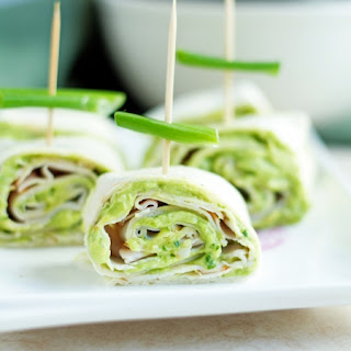Cilantro & Avocado Turkey Pinwheels.
