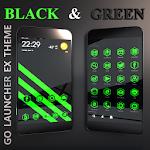 BlackGreen Go Launcher Theme