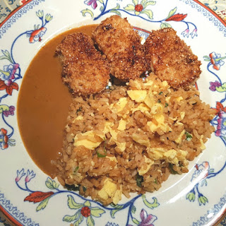Sesame-Crusted Pork Loin with Egg-Fried Rice.