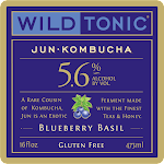Wild Tonic Blueberry Basil Jun Kombucha