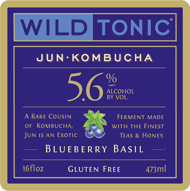 Logo of Wild Tonic Blueberry Basil Jun Kombucha