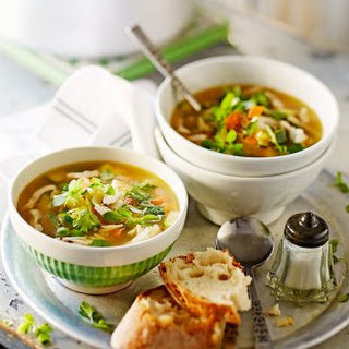 Chicken Soup With Spring Veg & Pasta.