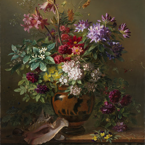 Still Life With Flowers In A Greek Vase Allegory Of Spring