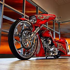Dragon Harley by JEFFREY LORBER - Transportation Motorcycles ( harley, lorebrphoto, custom bike, motorcycle, rust 'n chrome, jeffrey lorber,  )