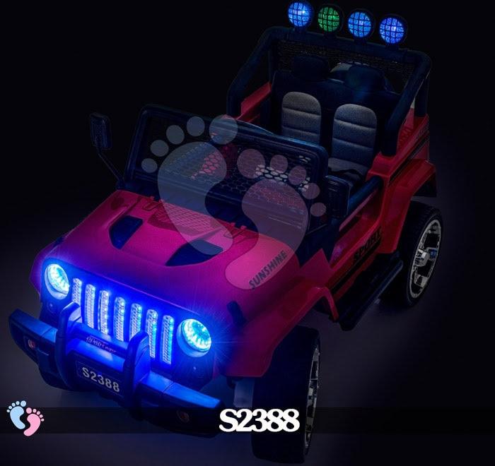 Ô tô điện địa hình S2388 4 động cơ, bánh cao su 14