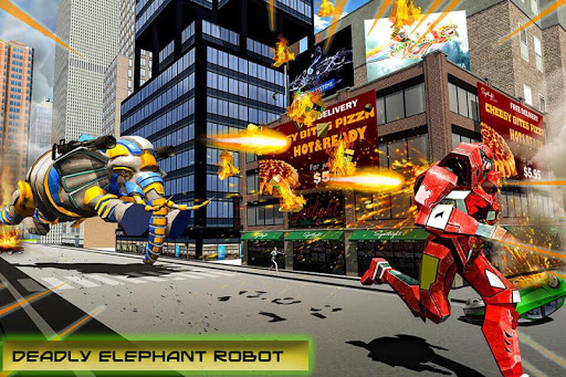 Transforming Robot Elephant Vs Ultimate Lion Robot Varies with device screenshots 2