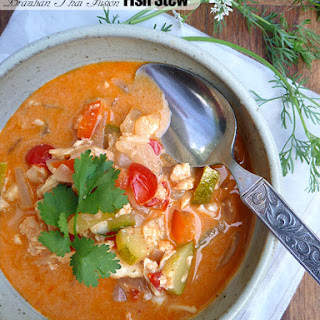 Thai Brazilian Fusion Fish Stew with Zucchini
