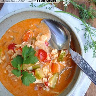 Thai Brazilian Fusion Fish Stew with Zucchini.