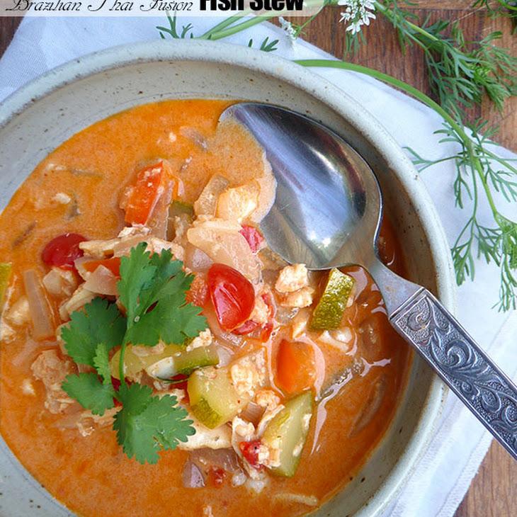 Thai Brazilian Fusion Fish Stew with Zucchini