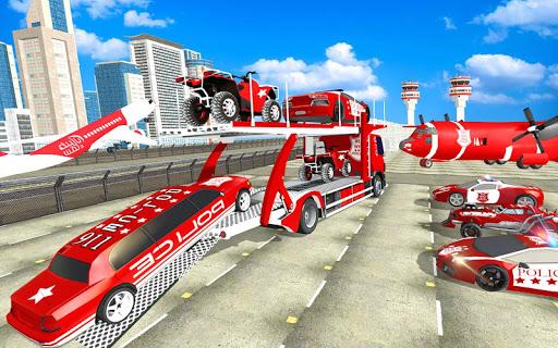 US Police Quad Bike Car Transporter Games 1.0.2 screenshots 13