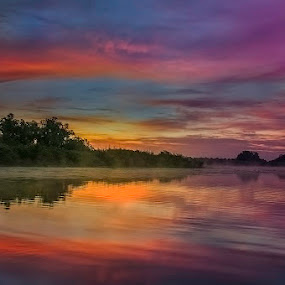 Danube Delta by Tomita Savastre - Landscapes Waterscapes ( clouds, reflections, sunrise, colours )