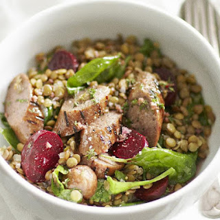 Sausage and Lentil Salad with Thyme Dressing