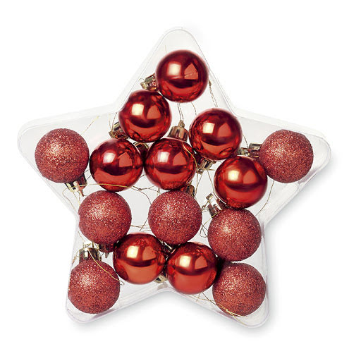 Christmas Tree Baubles in a Printed Box
