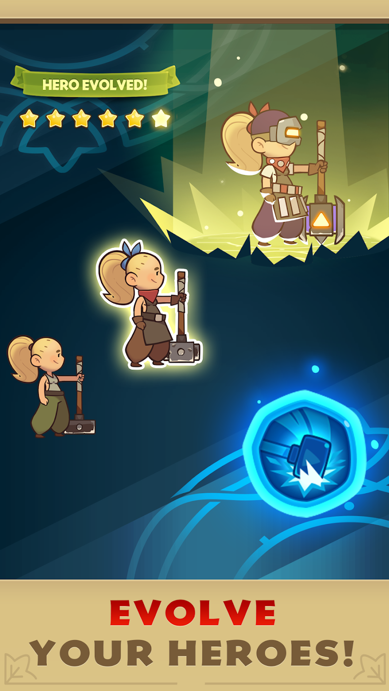 Almost a Hero - RPG Clicker Game with Upgrades Screenshot 2