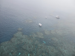 Photo: Helicopter view of the Great Barrier Reef