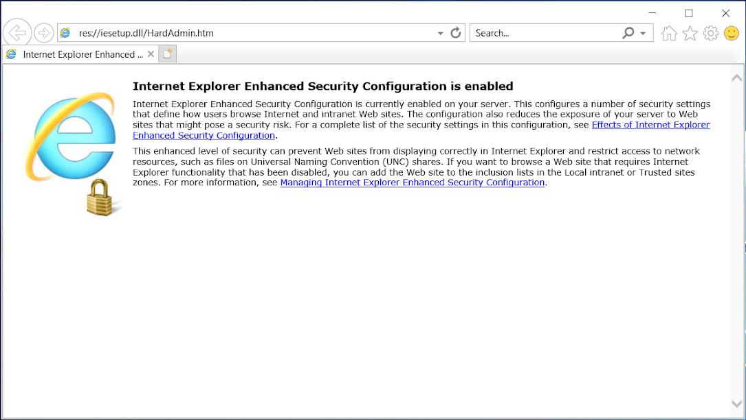 [Solved] How to Disable Internet Explorer Enhanced Security Configuration (IE ESC)