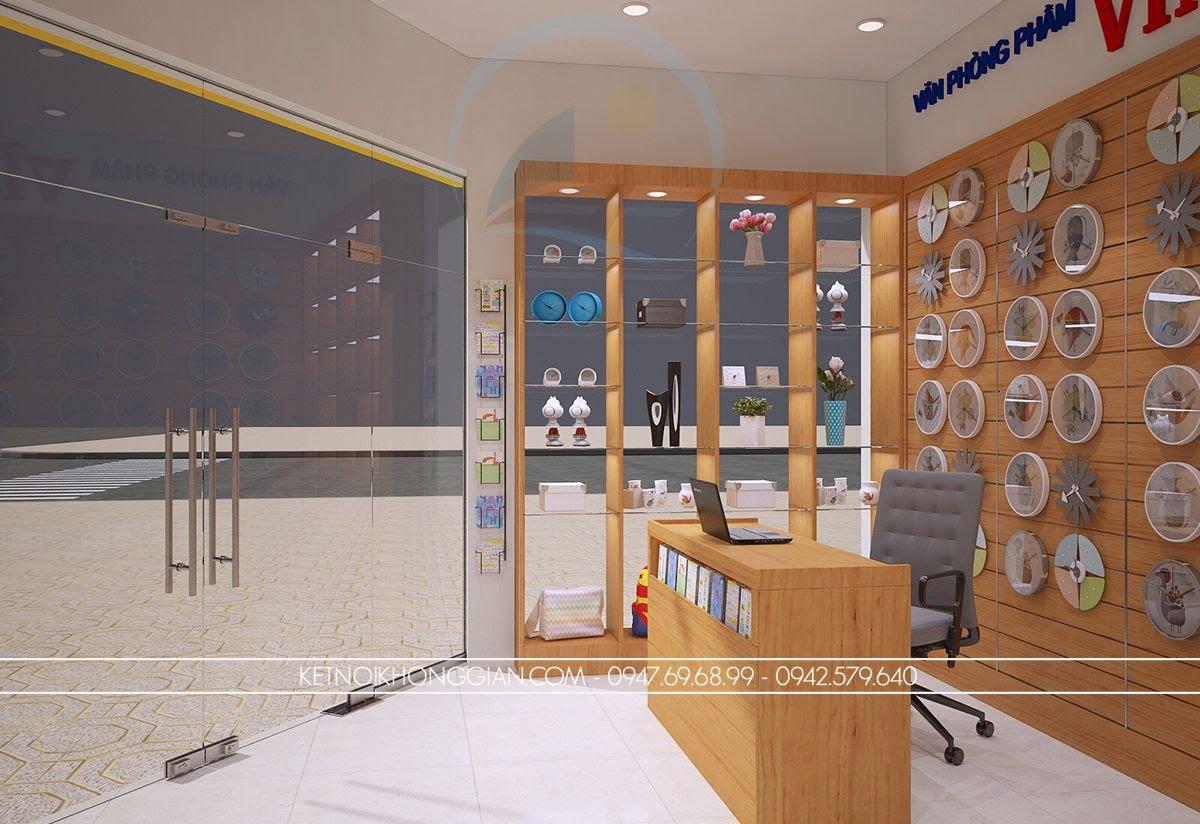 thiết kế cửa hàng văn phòng phẩm diện tích nhỏ