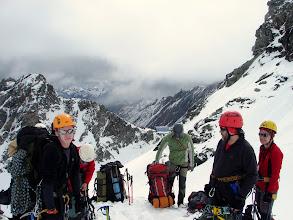Photo: Wchodzimy na lodowiec, za chwilę zwiążemy sie liną. W dali schronisko Studlhutte 2 800 m n.p.m.