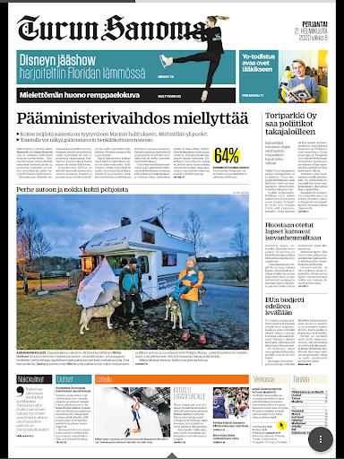 Turun Sanomat näköislehti screenshot 11