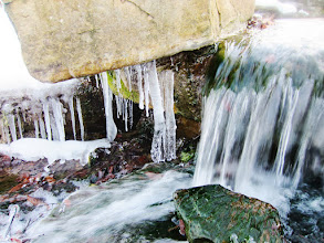 Photo: Icicles and waterfall in winter at Cox Arboretum and Gardens in Dayton, Ohio.