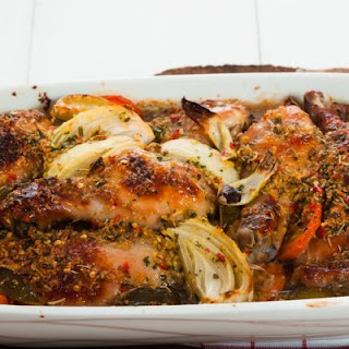 Butter Baked and Grill-Seared Chicken with Vegetables