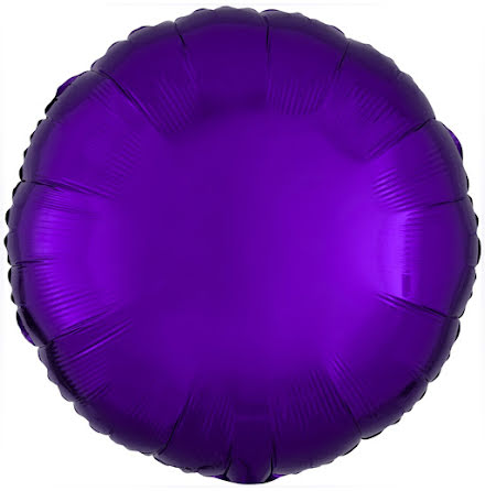 Folieballong, rund metallic lila 43 cm