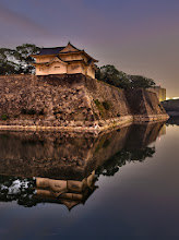 Photo: Along the outer moat surrounding the Osaka Castle there are multiple towers, called yagura.  This yagura is original and very unique because of its L shape and the first and second levels are the same size. Normally the second level will be smaller than the first.  Info from - http://www.jcastle.info/photos/view/371-Osaka-Castle