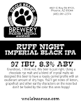 Uncle Bear's Ruff Night Imperial Black IPA