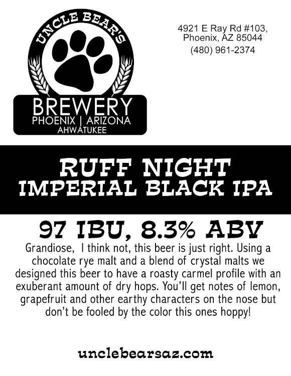 Logo of Uncle Bear's Ruff Night Imperial Black IPA