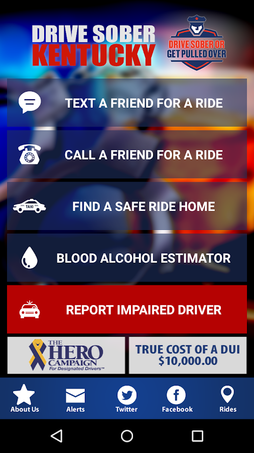 DRIVE SOBER KENTUCKY- screenshot