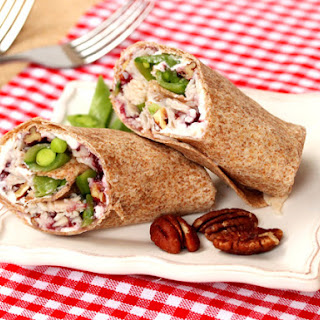 Turkey Cranberry and Cream Cheese Pecan Wrap