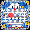 Kawaii Blue Cat Diamond Keyboard icon