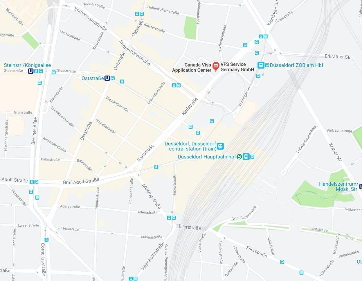Dusseldorf VAC map