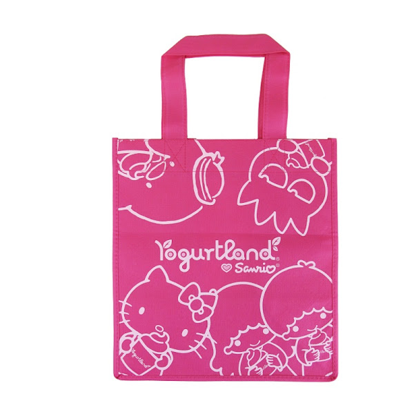 Photo: Sanrio x Yogurtland Eco Tote in Pink - $ 2.50  Click this link to find a participating Yogurtland location near you: http://bit.ly/NkviYF