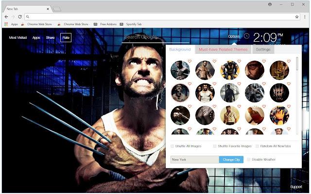 X-Men Wolverine Wallpaper Custom Xmen New Tab