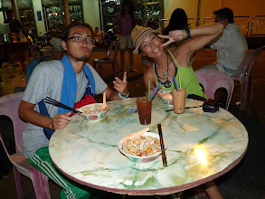 Photo: Georgetown, Penang - japanese Yuichiro and Saki having curry mee with me for dinner