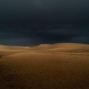 Angry Desert by Souhayl Bk - Landscapes Deserts ( desert storm lightening wide-angle clouds wind,  )