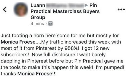Pin Practical Masterclass Testimonial