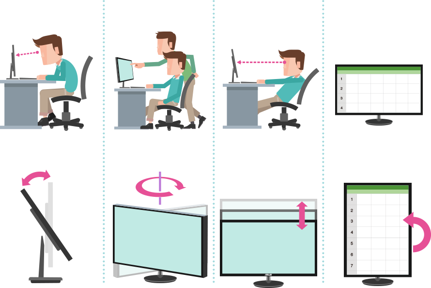 Ergonomic design, sitting posture