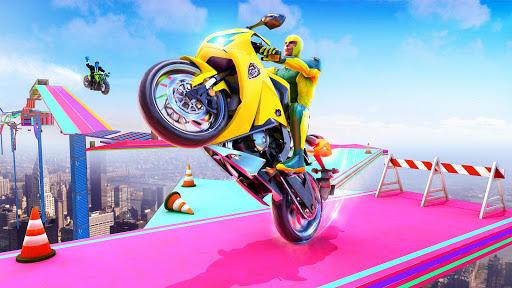 Superhero Bike Stunt GT Racing - Mega Ramp Games 1.3 screenshots 4