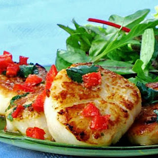 Pan-Seared Scallops with a Special Thai Sauce.