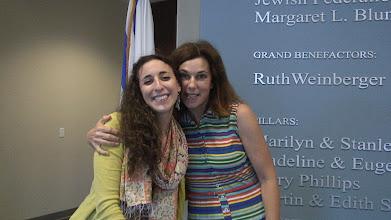 Photo: Rachel and Cara / 4-21-13 Les & Sydelle Art exhibit at Weissman Ctr