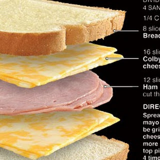 Grilled Ham and Colby-Jack Cheese Recipe