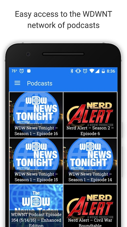 WDWNT: The App- screenshot