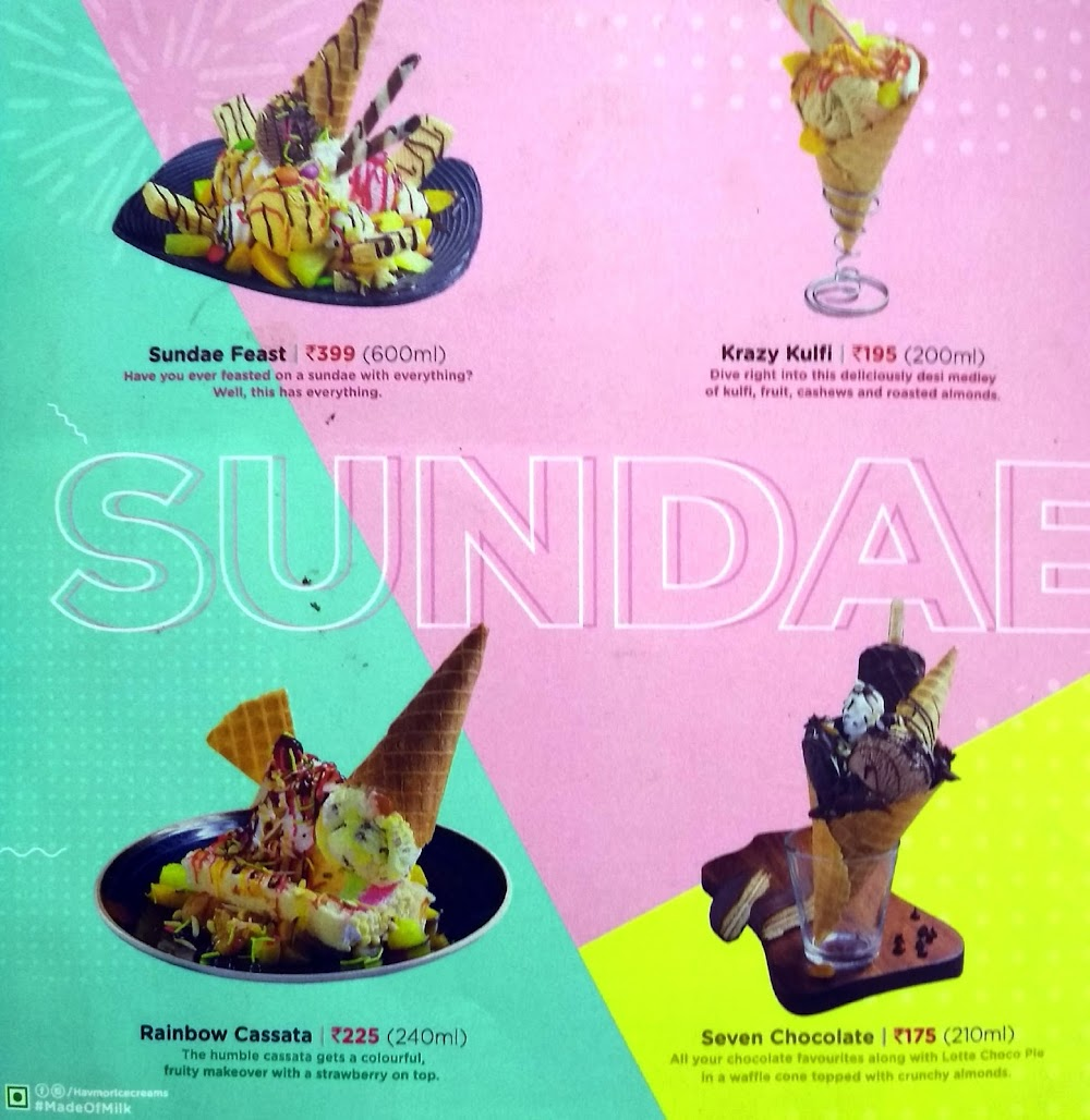 Havmor Ice Cream menu 1