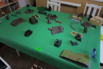 Photo: Dark Angels v Dark Eldar, deployment