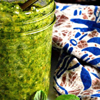 Thai Style Non Dairy Pesto with Basil, Cilantro and Coconut Oil