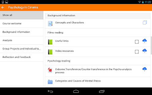 Moodle Mobile- screenshot thumbnail